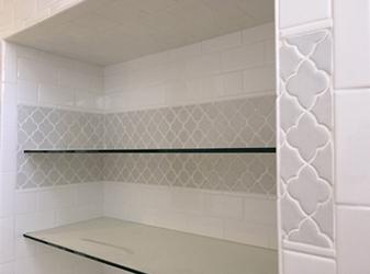 Soci SSE 817 Mosaic with 3x6 Ice White Ceramic Tile